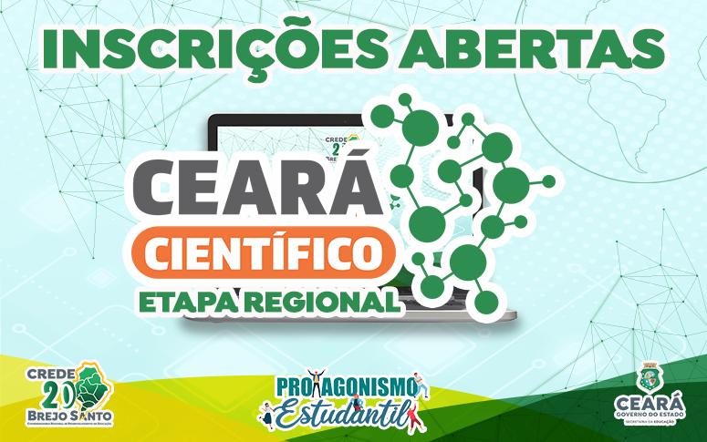 Inscrições Abertas para o Ceará Científico Digital 2021 – Etapa Regional
