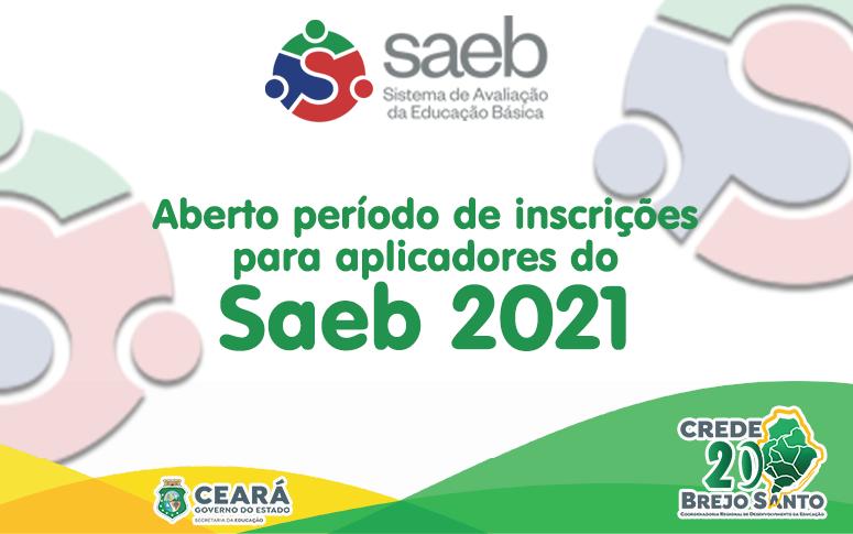 Estão abertas as inscrições para aplicadores do SAEB 2021